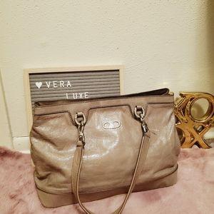 Celine cracked leather shoulder bag